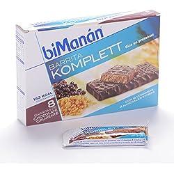 BIMANAN, Sustitutive Barritas Crujientes Chocolate Komplett 8 barritas