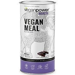 veganpower MEAL - Diät-Shake Pulver, veganer Mahlzeitenersatz (17 vollwertige Mahlzeiten) reich an Superfoods und Ballaststoffen, Schoko-Geschmack