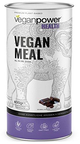 veganpower MEAL - Diät-Shake Pulver, veganer Mahlzeitenersatz (17 vollwertige Mahlzeiten) reich an Superfoods und Ballaststoffen, Schoko-Geschmack -