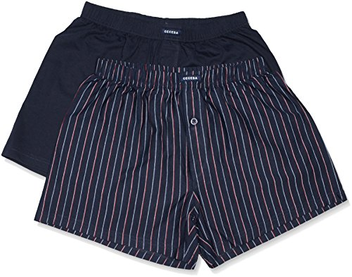 Ceceba Shorts 2er Pack, Boxer Uomo (Pacco da 2) Blau (navy-red 2550)