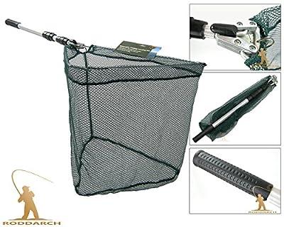 Landing Net 58 Inch Telescopic Folding Fishing Tele Pole Micro Mesh Trout Salmon Net by Roddarch