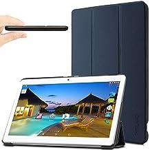 "YunTab 3G Tablet 10.1 inch/ACEPAD A101 (10.1"") TABLET PC Funda Case, Infiland Ultra Delgada Tri-Fold Case Cover PU Cuero Cascara con Soporte para Android 10,1 inch tablet YUNTAB 3G Tablet 10.1 inch 3g Tablet Pc /XIDO Z120/3G, Tablet Pc 10 inch/Artizlee 10 inch (10.1"") Tablet PC ATL-21L 1280x800/ibowin P130 10.1 inch Allwinner A33/ACEPAD A101 (10.1"")(More compatiable models in description),Azul Oscuro"