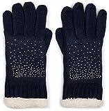 styleBREAKER warme Handschuhe mit Strass und Fleece, Winter Strickhandschuhe, Damen 09010010, Farbe:Midnight-Blue / Dunkelblau (One Size)