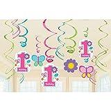 Amscan 670367 - Hängedekoration, Sweet Birthday Girl , 12 teilig