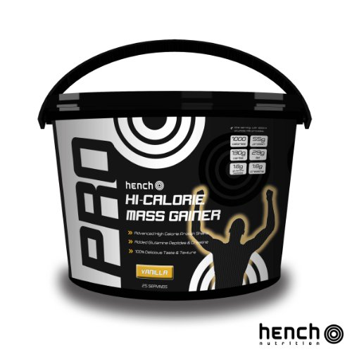 4KG / 4000G HENCH MASS / WEIGHT GAINER WHEY PROTEIN VANILLE - POUDRE DE PROTEINES DE LACTOSERUM – VANILLE
