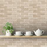 DeStudio 'Brick Texture' Wallpaper Roll (PVC Vinyl Film, 40 cm x 1016 cm x 0.01)