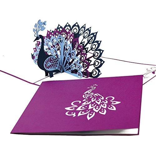 """fau"""" - edle Geburtstagskarte, Hochzeitskarte und Einladung in Violett – Glückwunschkarte & Einladungskarte mit Umschlag ()"""