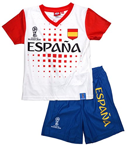 FIFA Boys Official World Cup Russia 2018 Espana Top & Shorts Set Sizes from 4 to 12 Years