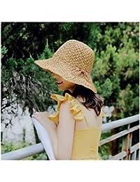 XIAOXINYUAN Grandes Aleros Pajarita Holiday Hat Sombrilla Sombrilla Y  Sombrero De Paja Sombrero para El Sol 1cc3a5e11bd