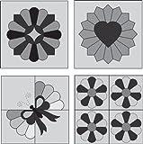 Marti Michell Mini Dresden Plate 4/Pkg Patchwork Template 8964M