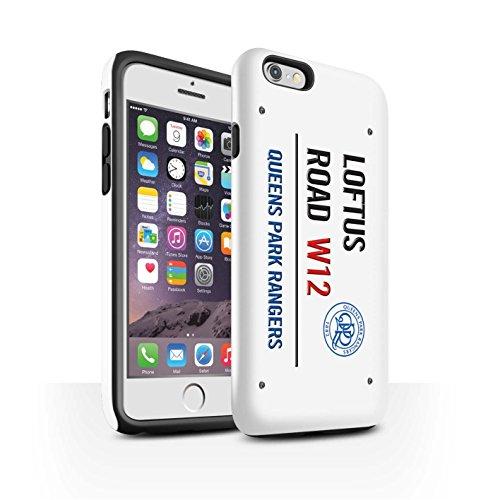 Offiziell Queens Park Rangers FC Hülle / Glanz Harten Stoßfest Case für Apple iPhone 6S / Pack 8pcs Muster / QPR Loftus Road Zeichen Kollektion Weiß/Blau
