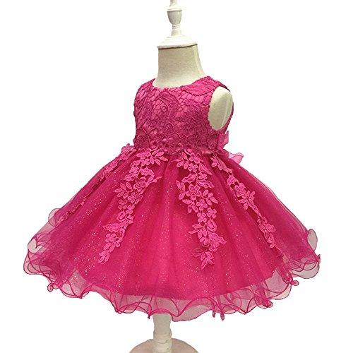 (LZH Baby Mädchen Geburtstag Taufe Kleid Taufe Hochzeit Blumen Kleid)