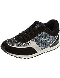 Conguitos Deportivos Glitter Hi551111, Zapatos de Cordones Derby Para Niñas