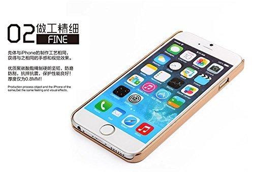 iPhone 5C Coque,iPhone 5C Case,iPhone 5C Housse,IPhone 5C Hard Coque Etui Case Cover,Vandot Une Parfait Couvrir Houss pour iPhone 5C [PC Plastique] Case de Protection[Antichoc][Anti-poussière] or