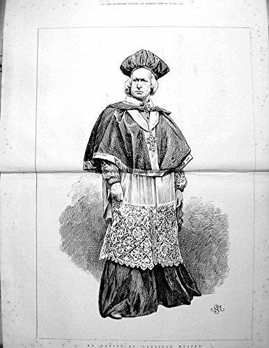 Altes Ursprüngliches Antikes Viktorianisches Kostüm-Spitze-Kreuz 1875 147TG614 Druck-Herr-Phelps As Cardinal Wolsey Volles (Cardinaux En Kostüme)