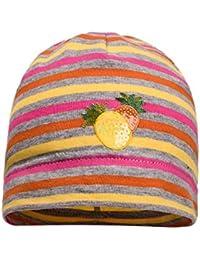maximo Beanie, Gestreift, Ananas , Bonnet Bébé Fille, Multicolore (Korall  1899f15904b