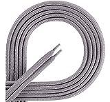 Ladeheid Qualitäts-Schnürsenkel aus 100% Polyester LAKO1001 (grau165, 100cm)