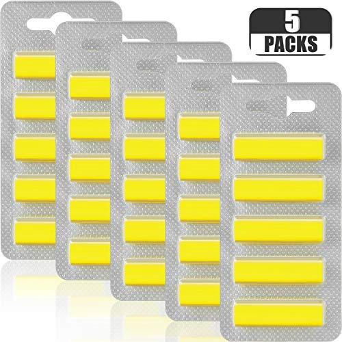Boao 5 Fogli Bastoncini di Deodorante per Ambienti Freschi di Limone Deodoranti Bastoncini di Profumo per Aspirapolvere in Sacchi, 25 Basto