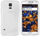 mumbi S-TPU Schutzhülle für Samsung Galaxy S5 / S5 Neo Hülle transparent weiss