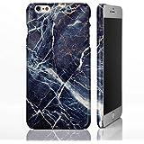 Mármol Piedra Natural textura Gloss Phone Cases para iPhone modelos. Amortiguador anticaídas diseñado Designs by icasedesigner, plástico, 19: Dark Blue Marble, iPhone 5C - Slim Case