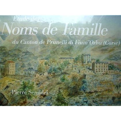 Etude des Noms de Famille du canton de Prunelli di Fium'Orbu (Corse)