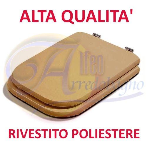 Copriwater sedile wc ideal standard conca visone coprivaso poliestere alta qualita'