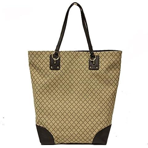Gucci Diamante Canvas And Leather Large Business Portfolio Tote Bag 353706