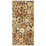 Apalis Raumteiler - Homey Firewood 250x120cm, Aufhängung: inkl. Transparenter Halterung