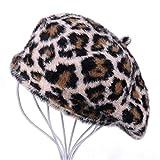 LLCP Beret Hut, lässiger Leopard Tattoo-Künstler hat im Freien warme atmungsaktive Hut,F