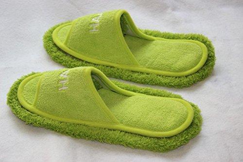 Cotton Soft Top Socken (Waschbar Staub Mop Hausschuhe Schöne samt offene toe abnehmbare abnehmbare hausschuhe faule hausschuhe)