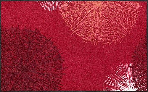 Wash&Dry 068495 Fußmatte Firework, 75 x 120 cm, rot