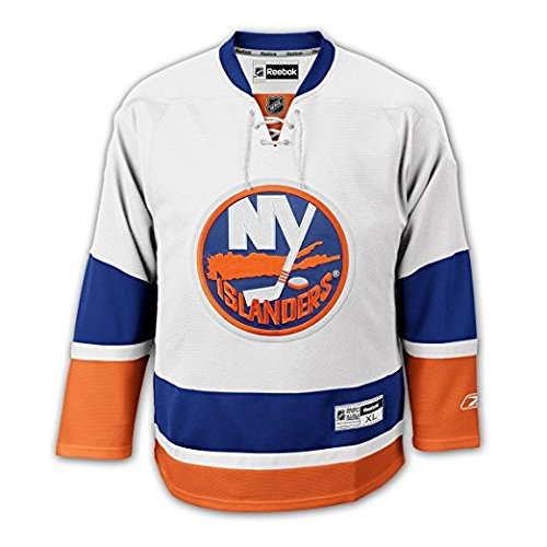Reebok New York Islanders Road White Premier Jersey (Jersey Road White)
