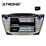 XTRONS® Doppel 2 DIN 17,8 cm HD Touchscreen Autoradio DVD GPS Navi Player mit Screen Mirroring Funktion für Hyundai ix35 Tucson