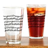CafePress - music notes Drinking Glass - Pint Glass, 16 oz. Drinking Glass by CafePress