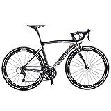SAVADECK Warwind3.0 Rennrad 700C Carbon Rahmen Fahrrad mit Shimano SORA 18-Fach Kettenschaltung Continental Ultra Sport II 25C Reifen und Doppel-V-Bremse (Grau, 52cm)