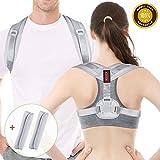 Acdyion Haltungskorrektur Geradehalter Rücken Gurt Sport für Männer und Frauen, verstellbar & atmungsaktiv, Reduzieren Sie Schmerzen in Schultern, Rücken und Nacken (Grau, L/XL: 39