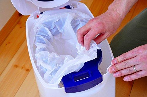 Geruchsdichter Windeleimer Diaper Champ regular silber – für normale Müllbeutel - 3