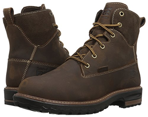 Timberland PRO Women s Hightower 6  Alloy Toe Waterproof Industrial and Construction Shoe  Kaffe Full-Grain Leather  6 5 M US
