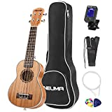 NEUMA Sopran Ukulele 21 Zoll Professional Ukulele Hawaii Gitarre Aquila Saiten mit Anfänger Starter Pack (Stimmgerät, Tasche Gurt und Plektren)