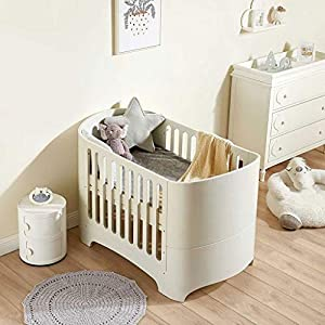 DUWEN-Cot bed Solid Wood Multifunction European Baby Cot Toddler Bed Sofa Bed Game Bed Children's Bed   4