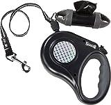 ZOOFARI® Hundeleine, reflektierend (schwarz grau, ca. 8 m/bis max. 35 kg)
