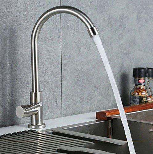 Single hole wasserhahn Küchenarmatur Schüssel becken einzigen kaltwasserhahn Einzelne kalte edelstahl küchenarmatur Bleifrei-zeichnung küchenarmatur-A