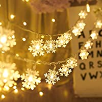 ASDFF Led 1 M 10 Lamp Photo Clip Battery Box Led Strip Light Christmas Decorations For Home New Year Decoration Home Decoration 3M 20LED snow warm