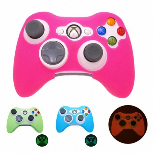 PINK GLOW in DARK Xbox 360 Game Controller Silicone Case Skin Protector Cover (Many Colors Available) Free shipping [Importación Inglesa]