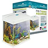All Pond Solutions Nano Fisch Tank Aquarium/LED-Lichtern, klein, 7 Liter, weiß