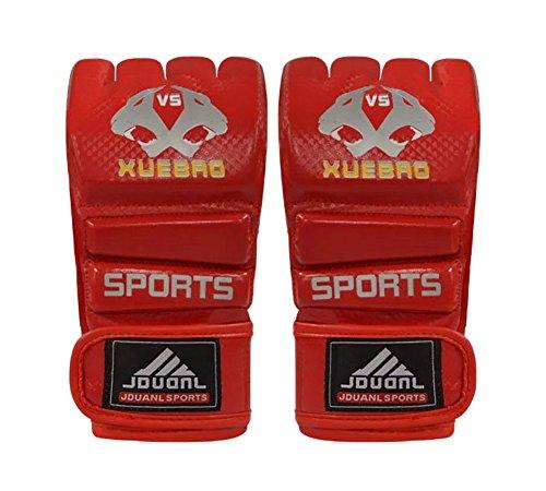 Erwachsene Kämpfen Halbfingerhandschuhe -UFC Boxhandschuhe - Handschuhe MMA -Rot