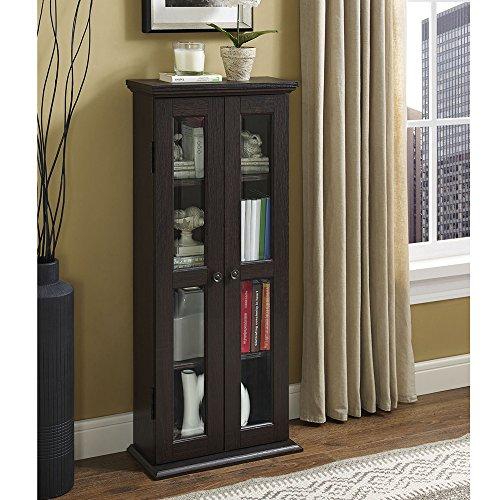 WE Furniture Walker Edison 104,1cm Media Schrank, holz, espresso, 104 cm (Espresso-storage-tower)