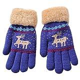 XXYsm Baby Handschuhe Winter Jungen Mädchen Weihnachten Stricken Chrismas Gloves Marine