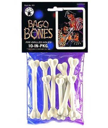 Knochen, Beutel mit 10 Stück (Knochen Halloween)