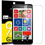 NEW'C Verre Trempé pour Nokia Microsoft Lumia 630,635, Film Protection écran - Anti Rayures - sans Bulles d'air -Ultra Résistant (0,33mm HD Ultra Transparent) Dureté 9H Glass